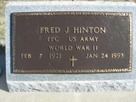 HINTON, FRED J. - Dawes County, Nebraska | FRED J. HINTON - Nebraska Gravestone Photos