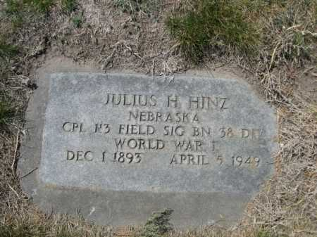 HINZ, JULIAS H. - Dawes County, Nebraska | JULIAS H. HINZ - Nebraska Gravestone Photos