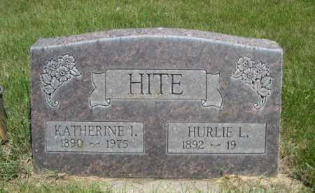 HITE, HURLIE L. - Dawes County, Nebraska | HURLIE L. HITE - Nebraska Gravestone Photos
