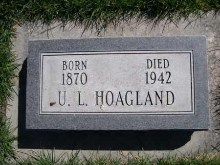 HOAGLAND, U. L. - Dawes County, Nebraska | U. L. HOAGLAND - Nebraska Gravestone Photos
