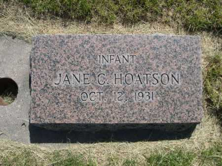HOATSON, JANE C. - Dawes County, Nebraska | JANE C. HOATSON - Nebraska Gravestone Photos