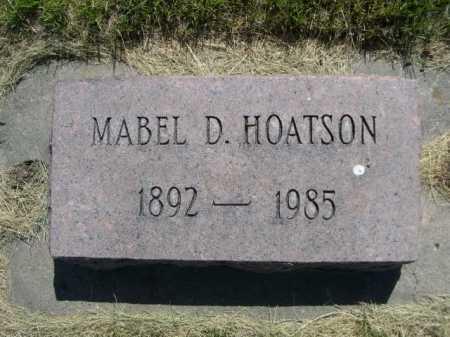 HOATSON, MABEL D. - Dawes County, Nebraska   MABEL D. HOATSON - Nebraska Gravestone Photos