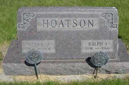 HOATSON, VERNA J. - Dawes County, Nebraska | VERNA J. HOATSON - Nebraska Gravestone Photos