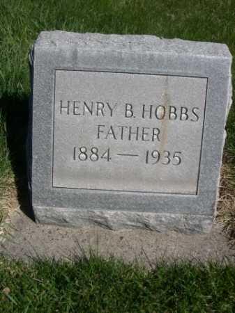 HOBBS, HENRY B. - Dawes County, Nebraska   HENRY B. HOBBS - Nebraska Gravestone Photos