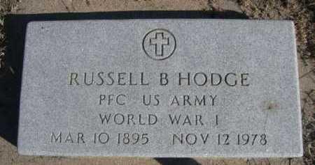 HODGE, RUSSELL B. - Dawes County, Nebraska | RUSSELL B. HODGE - Nebraska Gravestone Photos