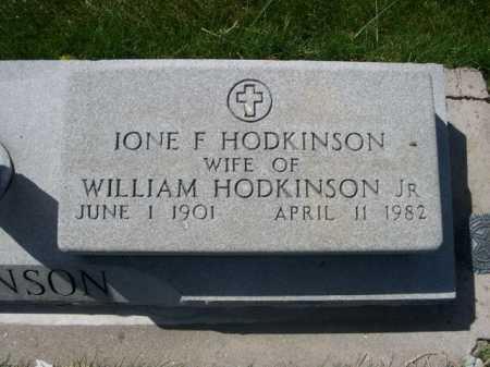 HODKINSON, IONE F. - Dawes County, Nebraska | IONE F. HODKINSON - Nebraska Gravestone Photos