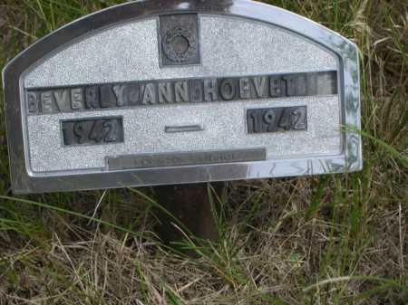 HOEVET, BEVERLY ANN - Dawes County, Nebraska | BEVERLY ANN HOEVET - Nebraska Gravestone Photos