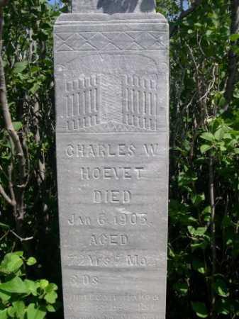 HOEVET, CHARLES W. - Dawes County, Nebraska | CHARLES W. HOEVET - Nebraska Gravestone Photos