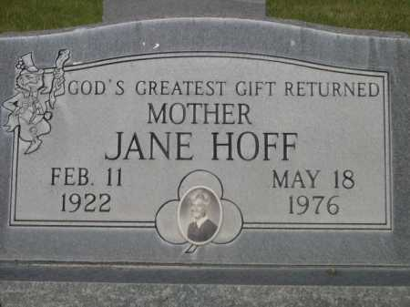 HOFF, JANE - Dawes County, Nebraska | JANE HOFF - Nebraska Gravestone Photos