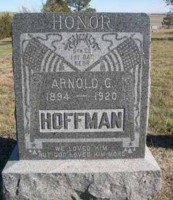 HOFFMAN, ARNOLD G. - Dawes County, Nebraska | ARNOLD G. HOFFMAN - Nebraska Gravestone Photos