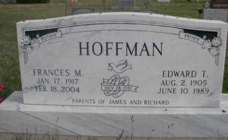 HOFFMAN, EDWARD T. - Dawes County, Nebraska | EDWARD T. HOFFMAN - Nebraska Gravestone Photos