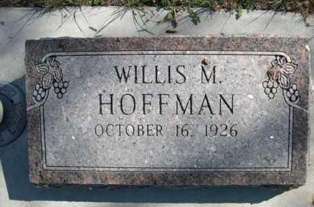 HOFFMAN, WILLIS M. - Dawes County, Nebraska | WILLIS M. HOFFMAN - Nebraska Gravestone Photos