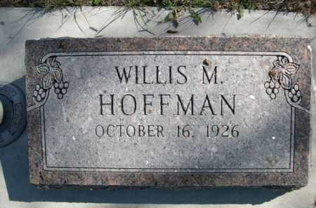 HOFFMAN, WILLIS M. - Dawes County, Nebraska   WILLIS M. HOFFMAN - Nebraska Gravestone Photos