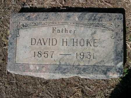 HOKE, DAVID H. - Dawes County, Nebraska   DAVID H. HOKE - Nebraska Gravestone Photos