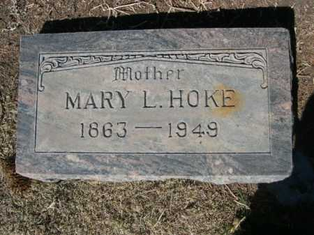 HOKE, MARY L. - Dawes County, Nebraska | MARY L. HOKE - Nebraska Gravestone Photos