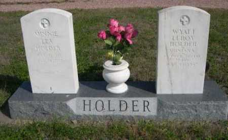 HOLDER, WYATT LEROY - Dawes County, Nebraska   WYATT LEROY HOLDER - Nebraska Gravestone Photos