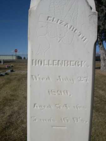 HOLLENBECK, ELIZABETH - Dawes County, Nebraska | ELIZABETH HOLLENBECK - Nebraska Gravestone Photos