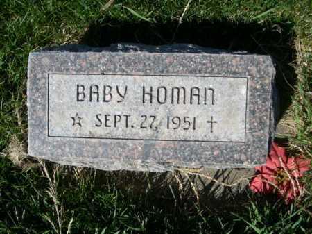HOMAN, BABY - Dawes County, Nebraska   BABY HOMAN - Nebraska Gravestone Photos