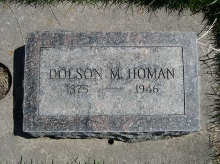 HOMAN, DOLSON M. - Dawes County, Nebraska | DOLSON M. HOMAN - Nebraska Gravestone Photos