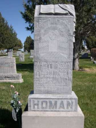 HOMAN, CALISTA - Dawes County, Nebraska | CALISTA HOMAN - Nebraska Gravestone Photos