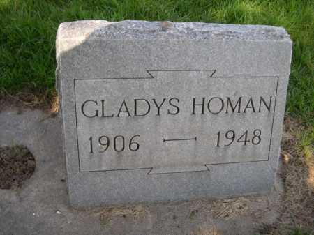 HOMAN, GLADYS - Dawes County, Nebraska | GLADYS HOMAN - Nebraska Gravestone Photos