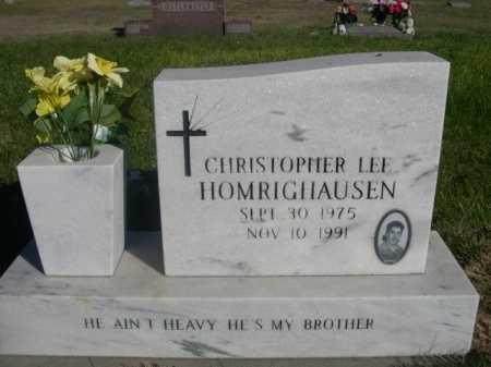 HOMRIGHAUSEN, CHRISTOPHER LEE - Dawes County, Nebraska | CHRISTOPHER LEE HOMRIGHAUSEN - Nebraska Gravestone Photos