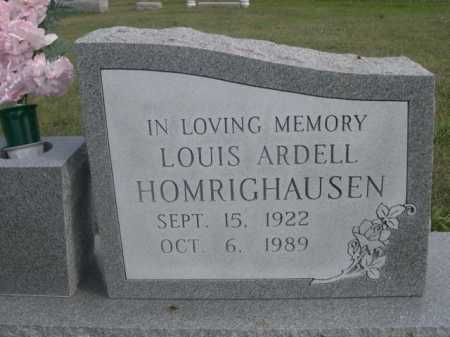 HOMRIGHAUSEN, LOUIS ARDELL - Dawes County, Nebraska   LOUIS ARDELL HOMRIGHAUSEN - Nebraska Gravestone Photos