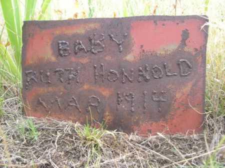 HONNOLD, BABY RUTH - Dawes County, Nebraska | BABY RUTH HONNOLD - Nebraska Gravestone Photos