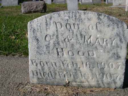 HOOD, DAU OF O. &  MARY - Dawes County, Nebraska | DAU OF O. &  MARY HOOD - Nebraska Gravestone Photos