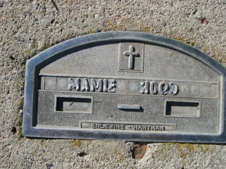 HOOD, MAMIE - Dawes County, Nebraska | MAMIE HOOD - Nebraska Gravestone Photos
