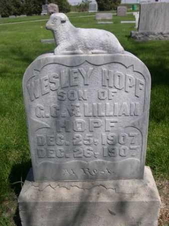 HOPF, WESLEY - Dawes County, Nebraska | WESLEY HOPF - Nebraska Gravestone Photos