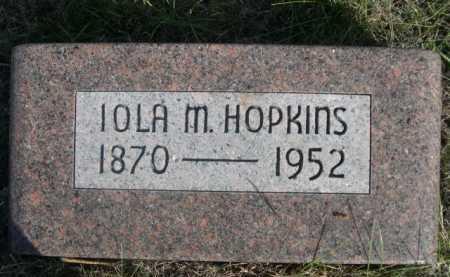 HOPKINS, IOLA M. - Dawes County, Nebraska | IOLA M. HOPKINS - Nebraska Gravestone Photos