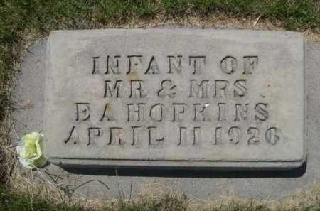 HOPKINS, INFANT OF MR. & MRS. E.A. - Dawes County, Nebraska   INFANT OF MR. & MRS. E.A. HOPKINS - Nebraska Gravestone Photos
