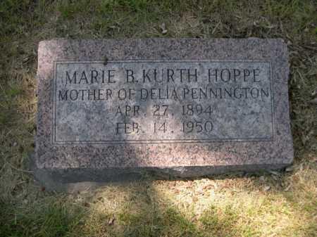 KURTH HOPPE, MARIE B. - Dawes County, Nebraska | MARIE B. KURTH HOPPE - Nebraska Gravestone Photos