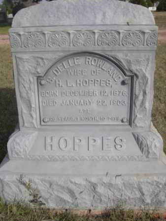 ROWLAND HOPPES, S. DELLE - Dawes County, Nebraska | S. DELLE ROWLAND HOPPES - Nebraska Gravestone Photos