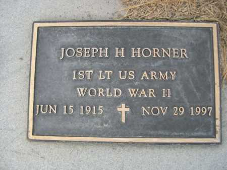 HORNER, JOSEPH H. - Dawes County, Nebraska   JOSEPH H. HORNER - Nebraska Gravestone Photos