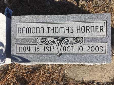 THOMAS HORNER, RAMONA - Dawes County, Nebraska | RAMONA THOMAS HORNER - Nebraska Gravestone Photos