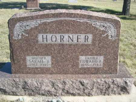 HORNER, SARAH J. - Dawes County, Nebraska | SARAH J. HORNER - Nebraska Gravestone Photos