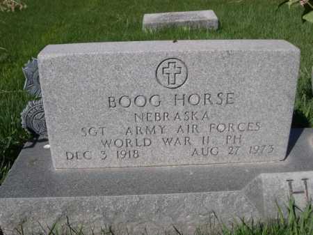 HORSE, BOOGE - Dawes County, Nebraska | BOOGE HORSE - Nebraska Gravestone Photos