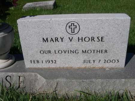 HORSE, MARY V. - Dawes County, Nebraska | MARY V. HORSE - Nebraska Gravestone Photos