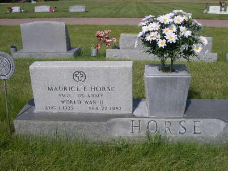 HORSE, MAURICE E. - Dawes County, Nebraska | MAURICE E. HORSE - Nebraska Gravestone Photos