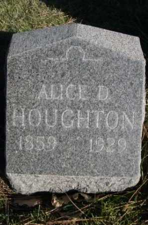 HOUGHTON, ALICE D. - Dawes County, Nebraska   ALICE D. HOUGHTON - Nebraska Gravestone Photos