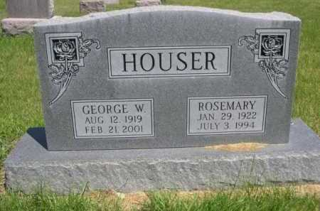 HOUSER, GEORGE W. - Dawes County, Nebraska | GEORGE W. HOUSER - Nebraska Gravestone Photos