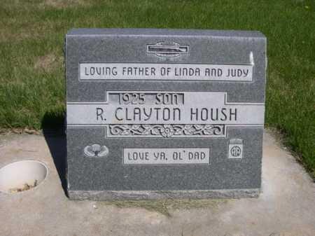 HOUSH, R. CLAYTON - Dawes County, Nebraska | R. CLAYTON HOUSH - Nebraska Gravestone Photos