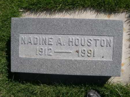 HOUSTON, NADINE A. - Dawes County, Nebraska | NADINE A. HOUSTON - Nebraska Gravestone Photos