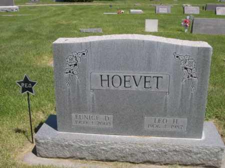 HOEVET, LEO H. - Dawes County, Nebraska | LEO H. HOEVET - Nebraska Gravestone Photos