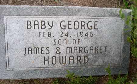 HOWARD, BABY GEORGE - Dawes County, Nebraska | BABY GEORGE HOWARD - Nebraska Gravestone Photos