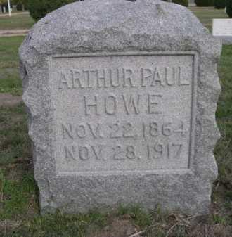 HOWE, ARTHUR PAUL - Dawes County, Nebraska   ARTHUR PAUL HOWE - Nebraska Gravestone Photos