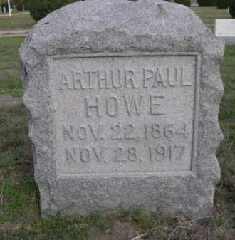 HOWE, ARTHUR PAUL - Dawes County, Nebraska | ARTHUR PAUL HOWE - Nebraska Gravestone Photos