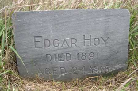 HOY, EDGAR - Dawes County, Nebraska | EDGAR HOY - Nebraska Gravestone Photos
